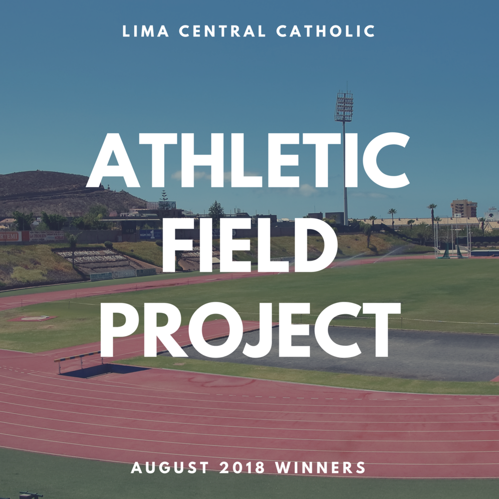 August Athletic Field Project WInners
