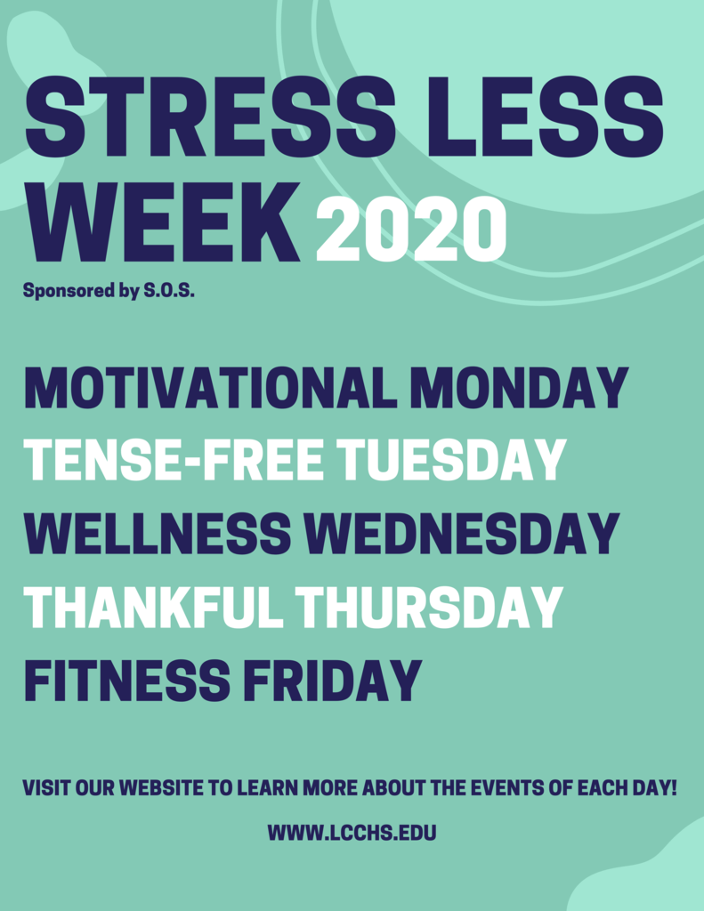 STRESS LESS WEEK 2020
