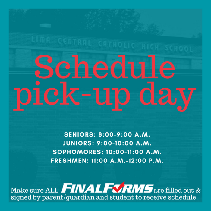 Schedule Pick Up Day 2018