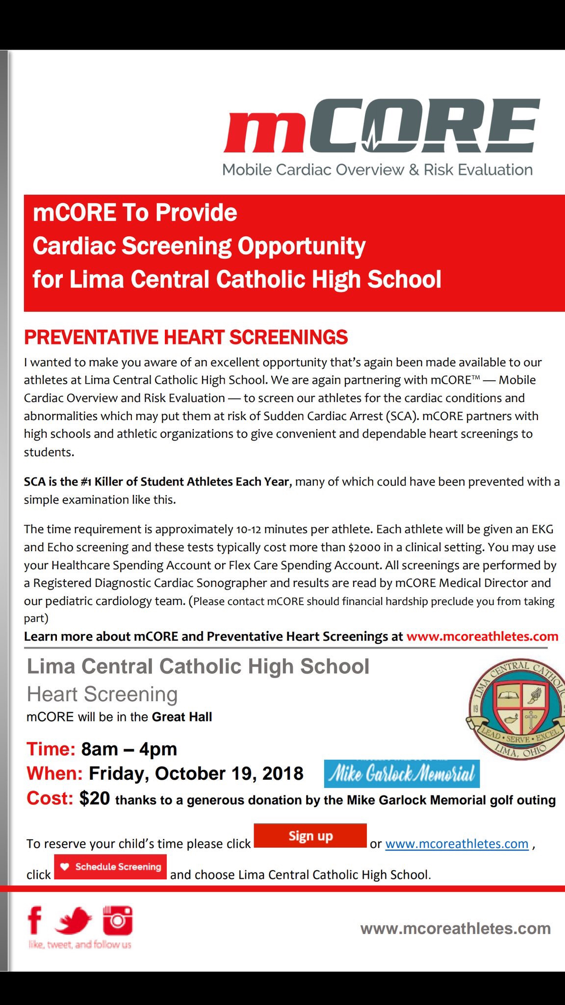 mCore Cardiac Screening